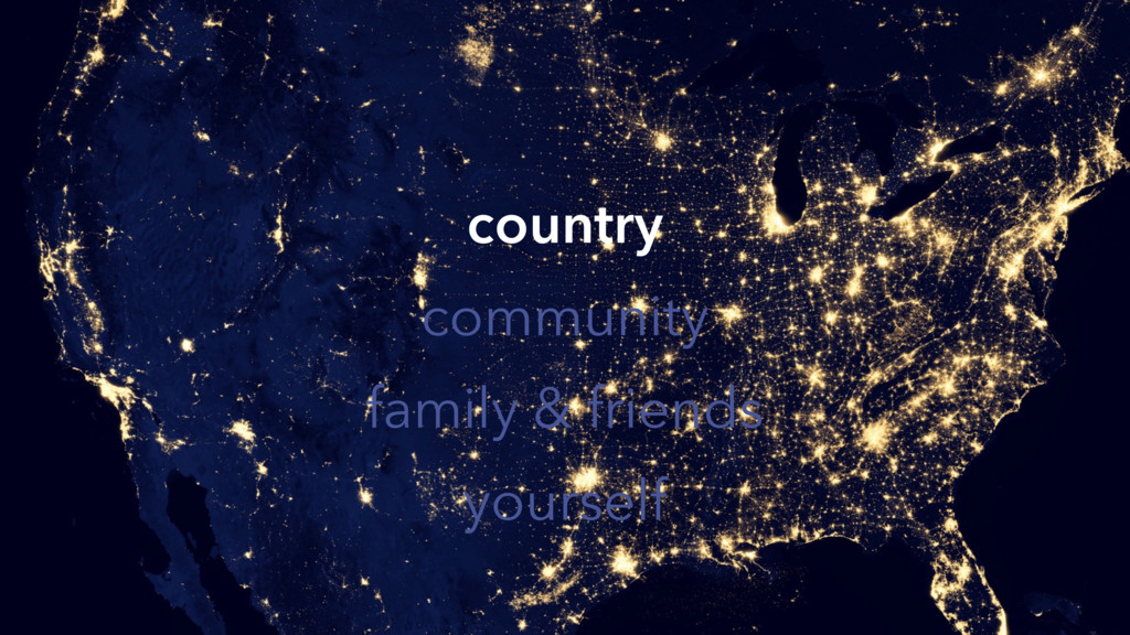 country community family & friends yourself