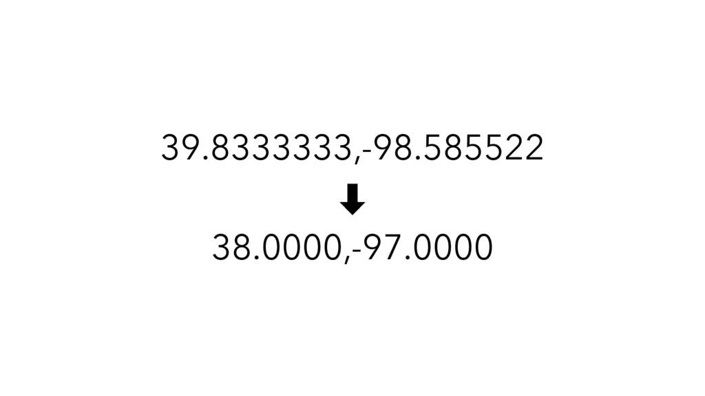 39.8333333,-98.585522 ‑ 38.0000,-97.0000