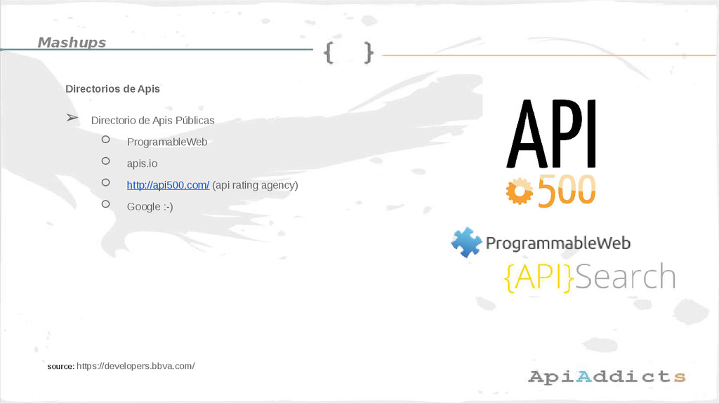 Directorios de Apis source: https://developers....