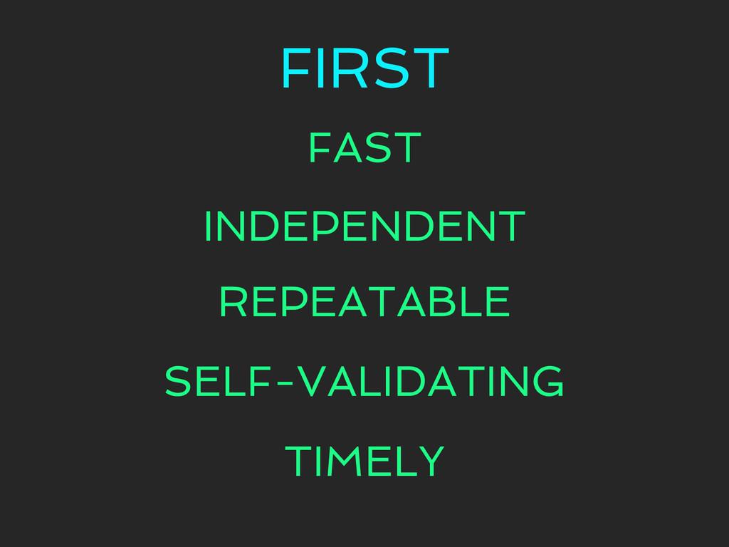 FIRST FAST INDEPENDENT REPEATABLE SELF-VALIDATI...
