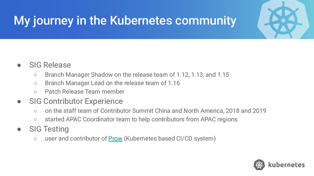 My journey in the Kubernetes community ● SIG Re...