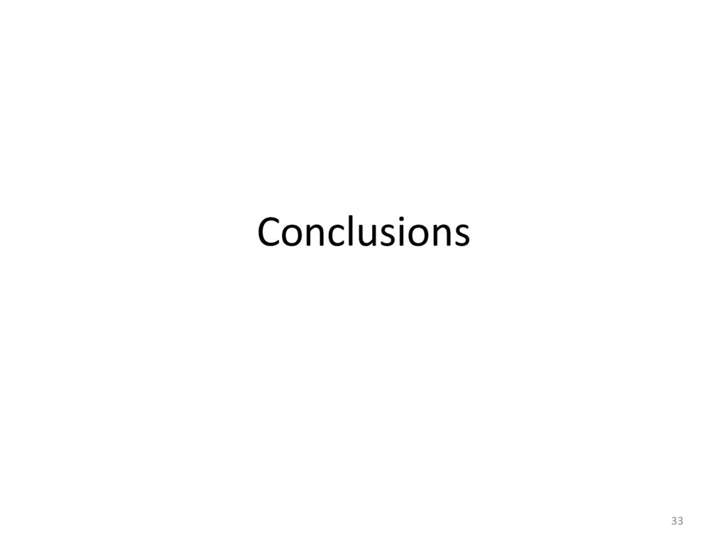 Conclusions  33