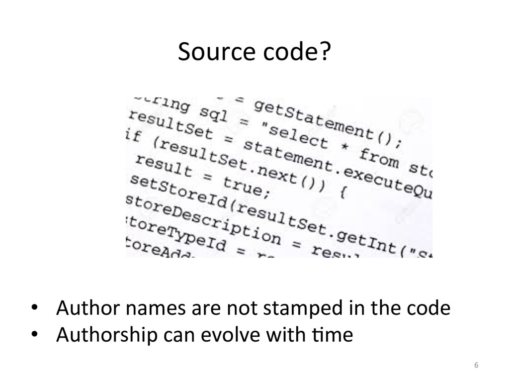Source code?   6  • Author name...