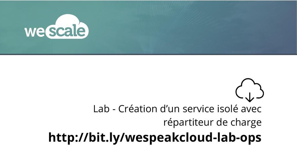 Lab - Création d'un service isolé avec répartit...