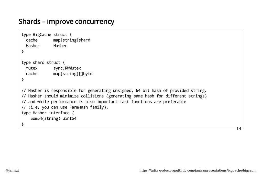 Shards – improve concurrency type BigCache stru...