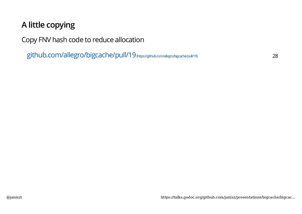 A little copying Copy FNV hash code to reduce a...