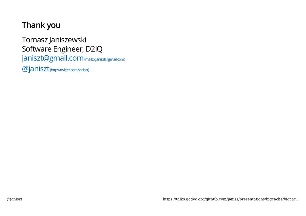 Thank you Tomasz Janiszewski Software Engineer,...