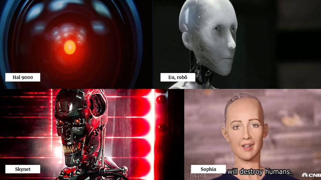 Hal 9000 Eu, robô Skynet Sophia