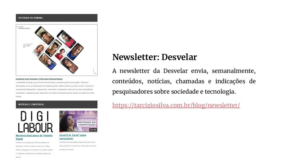 Newsletter: Desvelar A newsletter da Desvelar e...