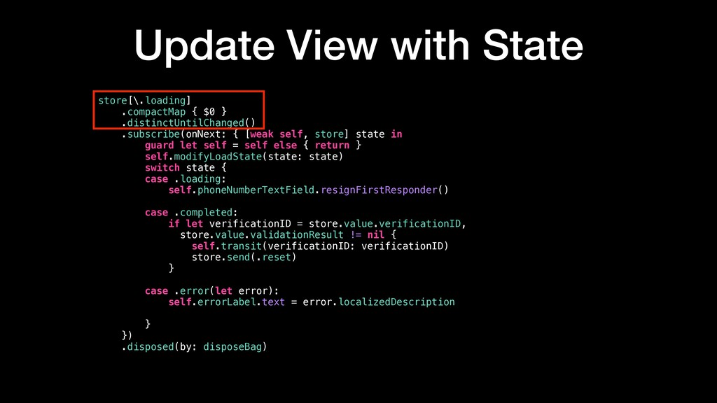 Update View with State store[\.loading] .compac...