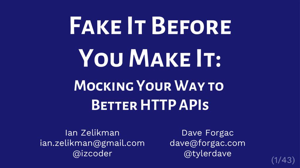 Ian Zelikman ian.zelikman@gmail.com @izcoder Fa...
