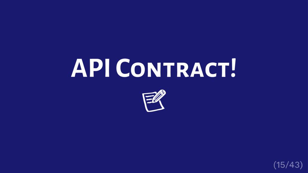 API Contract!