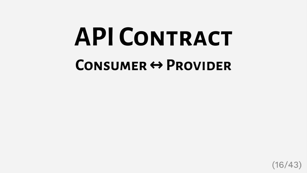 API Contract Consumer ↔ Provider
