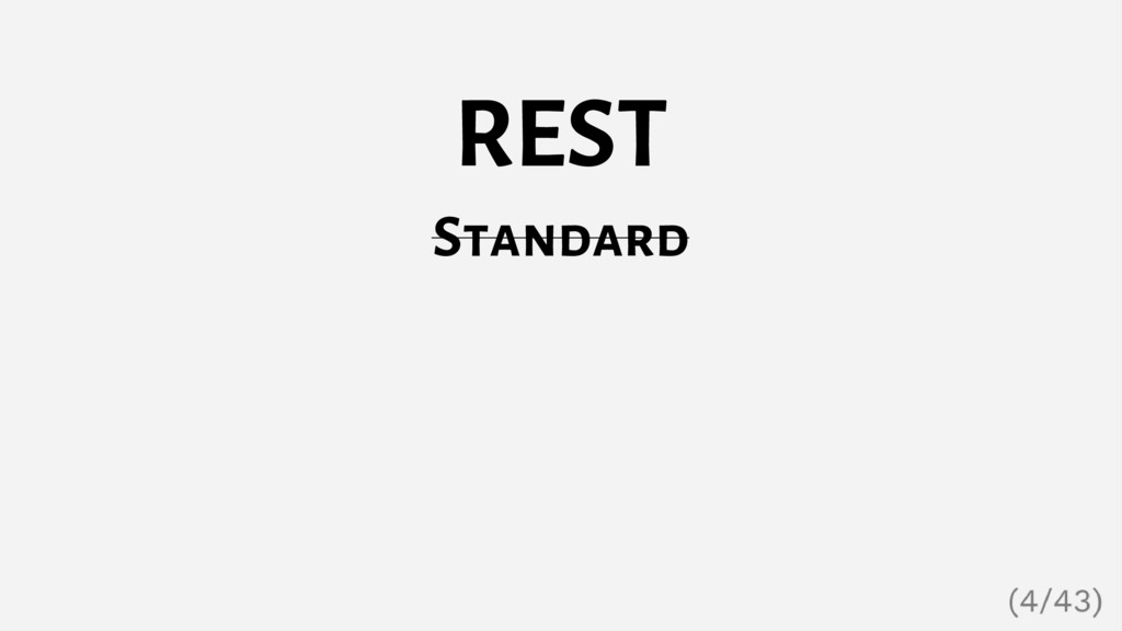 REST Standard