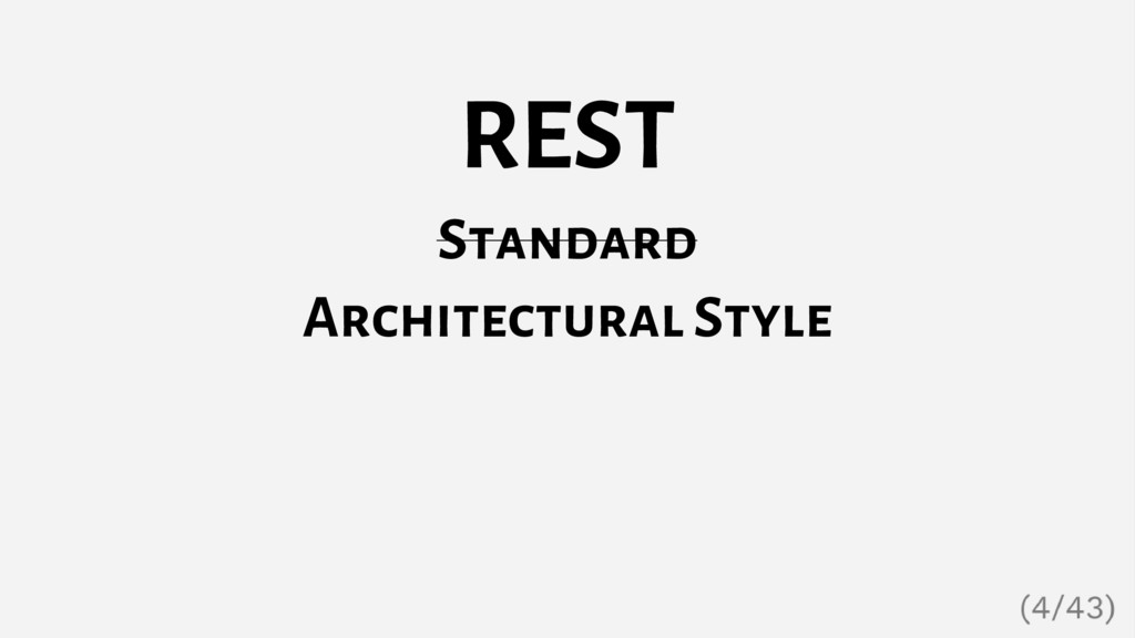 REST Standard Architectural Style