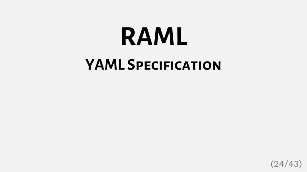 RAML YAML Specification
