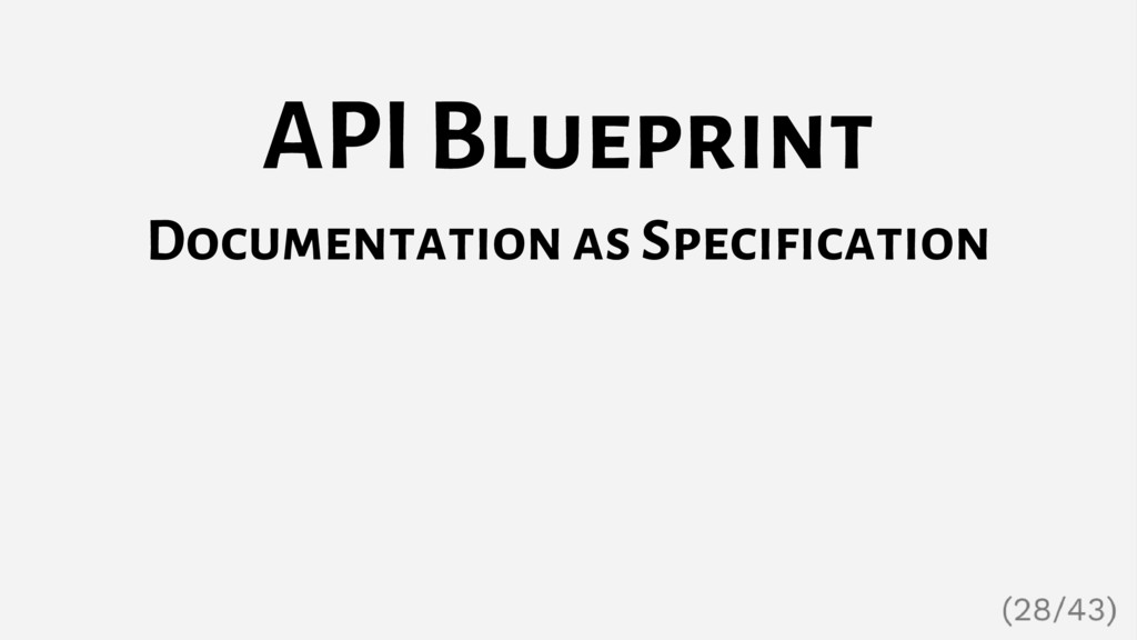 API Blueprint Documentation as Specification