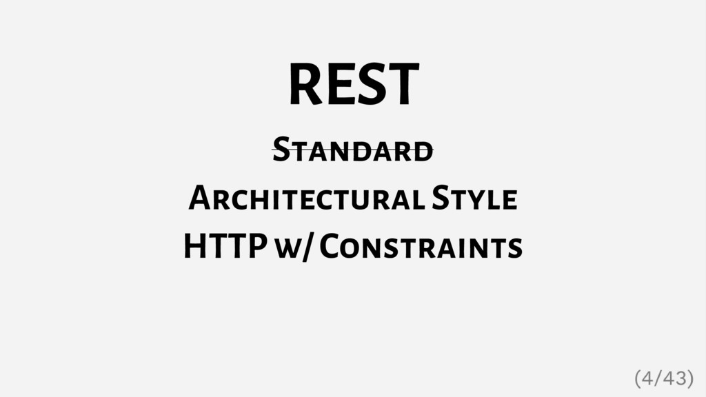 REST Standard Architectural Style HTTP w/ Const...