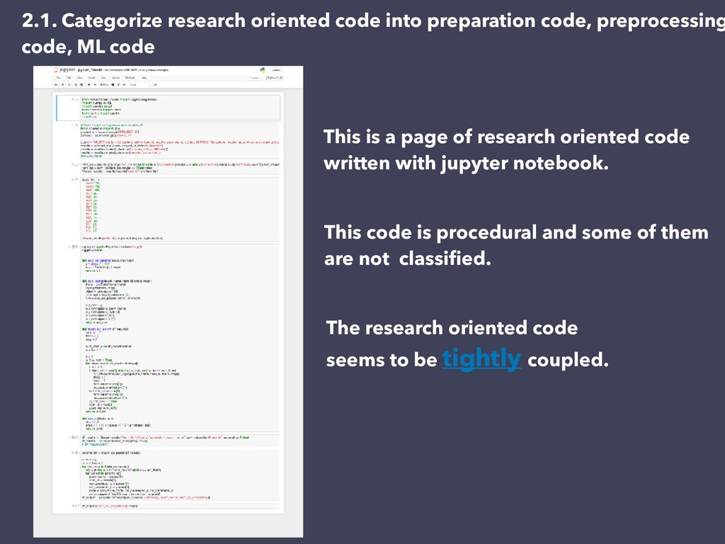This is a page of research oriented code writte...