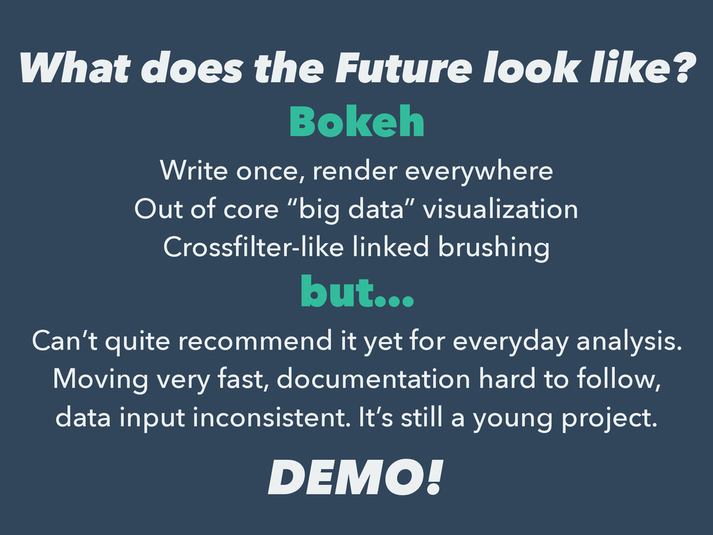 What does the Future look like? Bokeh Write onc...