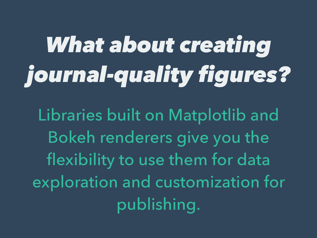 What about creating journal-quality figures? Li...