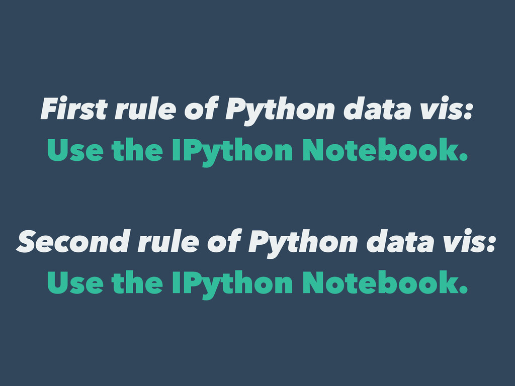 First rule of Python data vis: Use the IPython ...