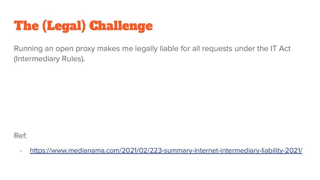 The (Legal) Challenge Running an open proxy mak...