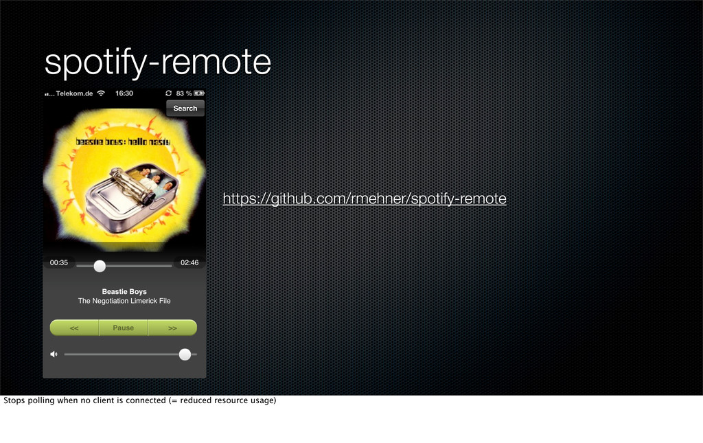 spotify-remote https://github.com/rmehner/spoti...