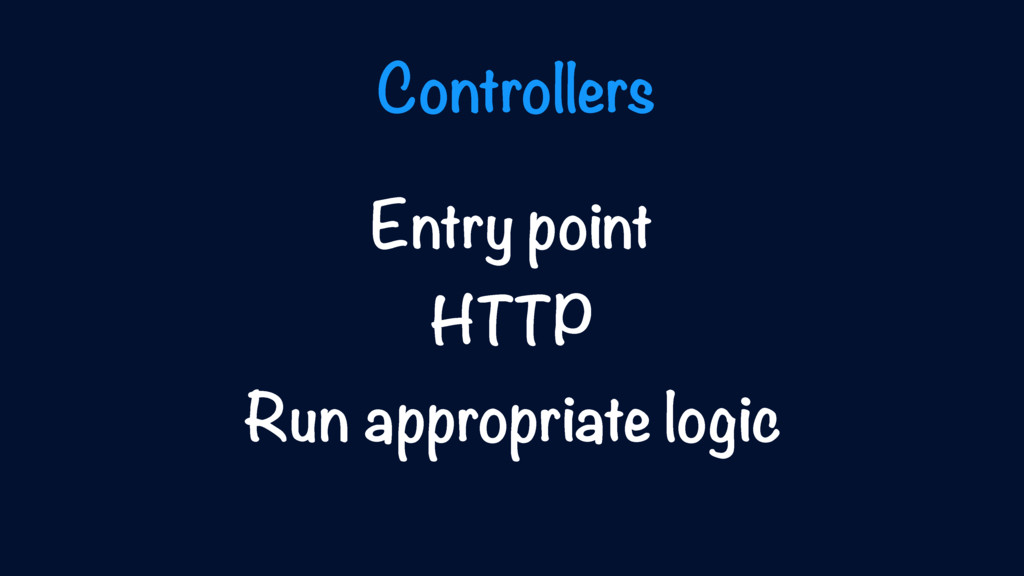 Entry point HTTP Run appropriate logic Controll...