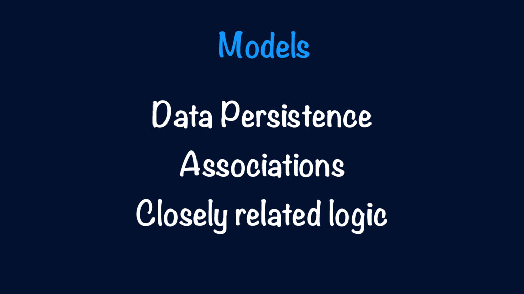 Data Persistence Associations Closely related l...