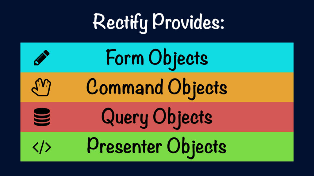 Form Objects Command Objects Query Objects Pres...