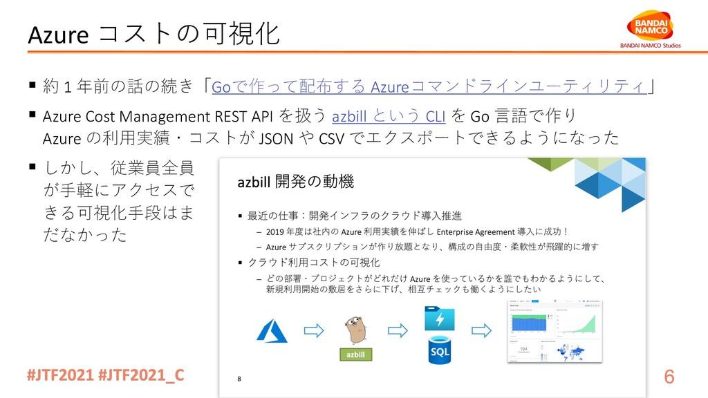 Azure コストの可視化 § 約 1 年前の話の続き「Goで作って配布する Azureコマン...