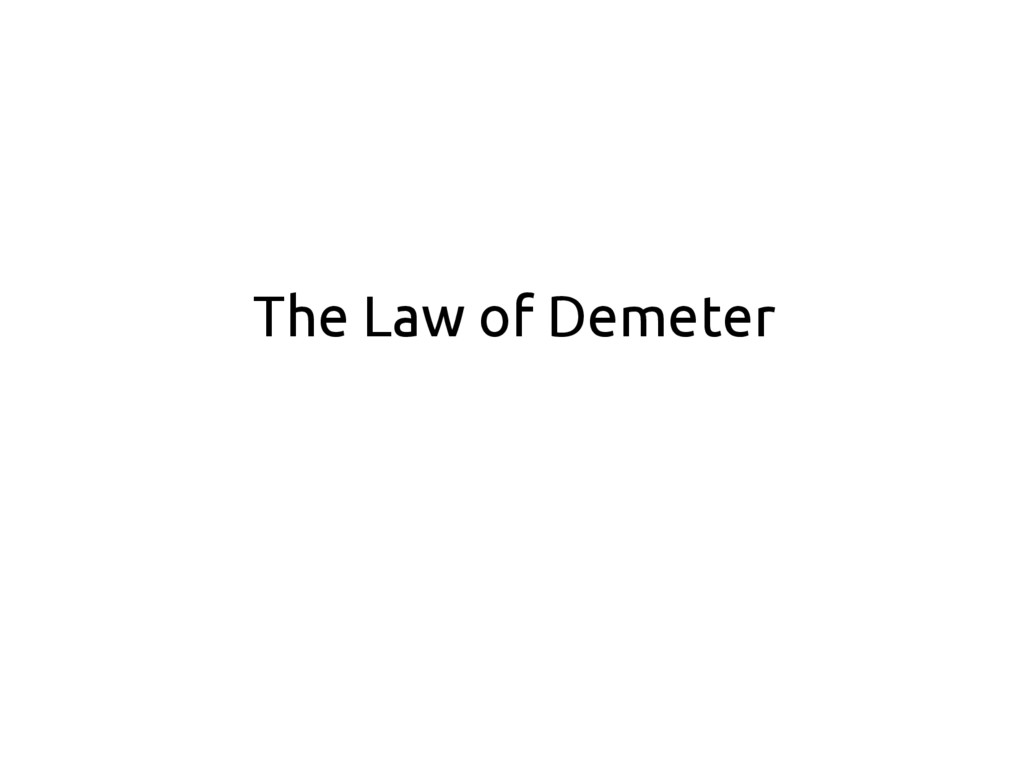 The Law of Demeter