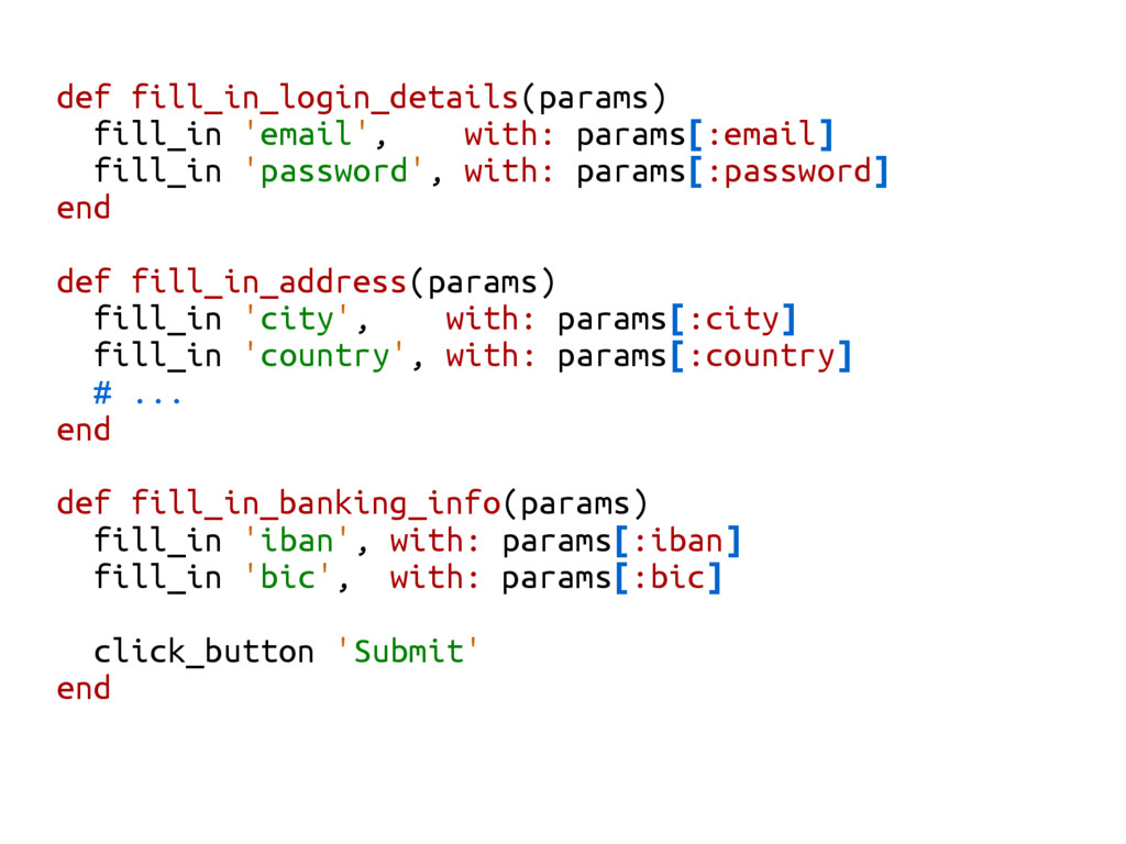 def fill_in_login_details(params) fill_in 'emai...