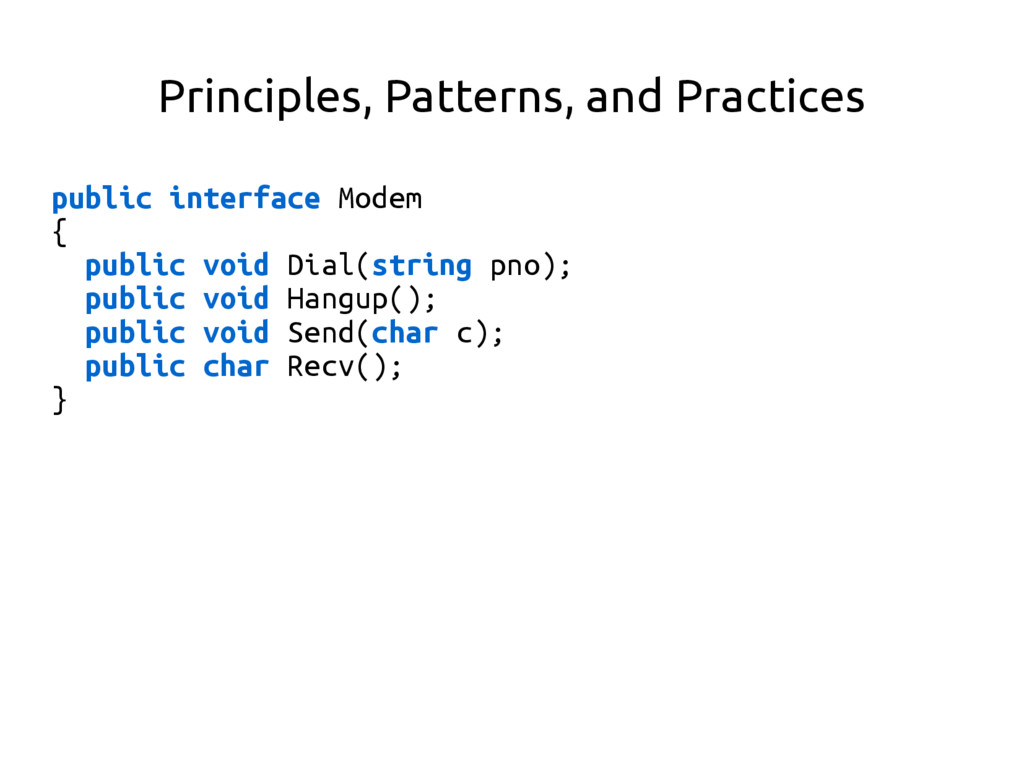 Principles, Patterns, and Practices public inte...