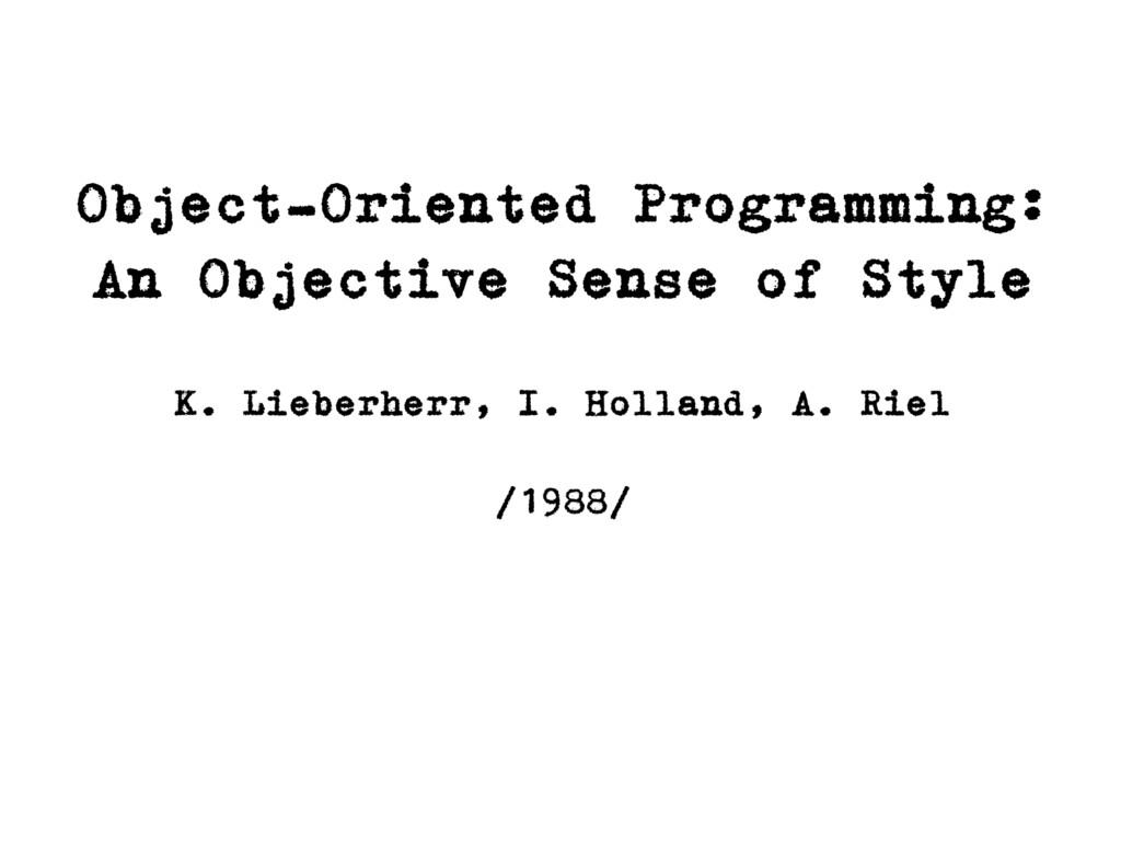 Object-Oriented Programming: An Objective Sense...