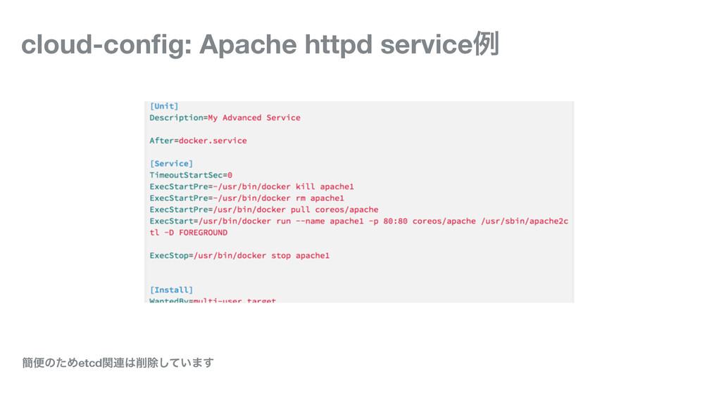 cloud-config: Apache httpd serviceྫ ؆ศͷͨΊetcdؔ࿈...