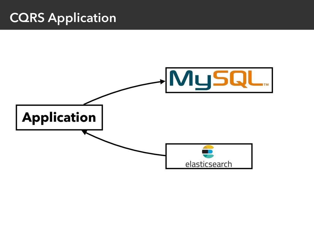 CQRS Application Application