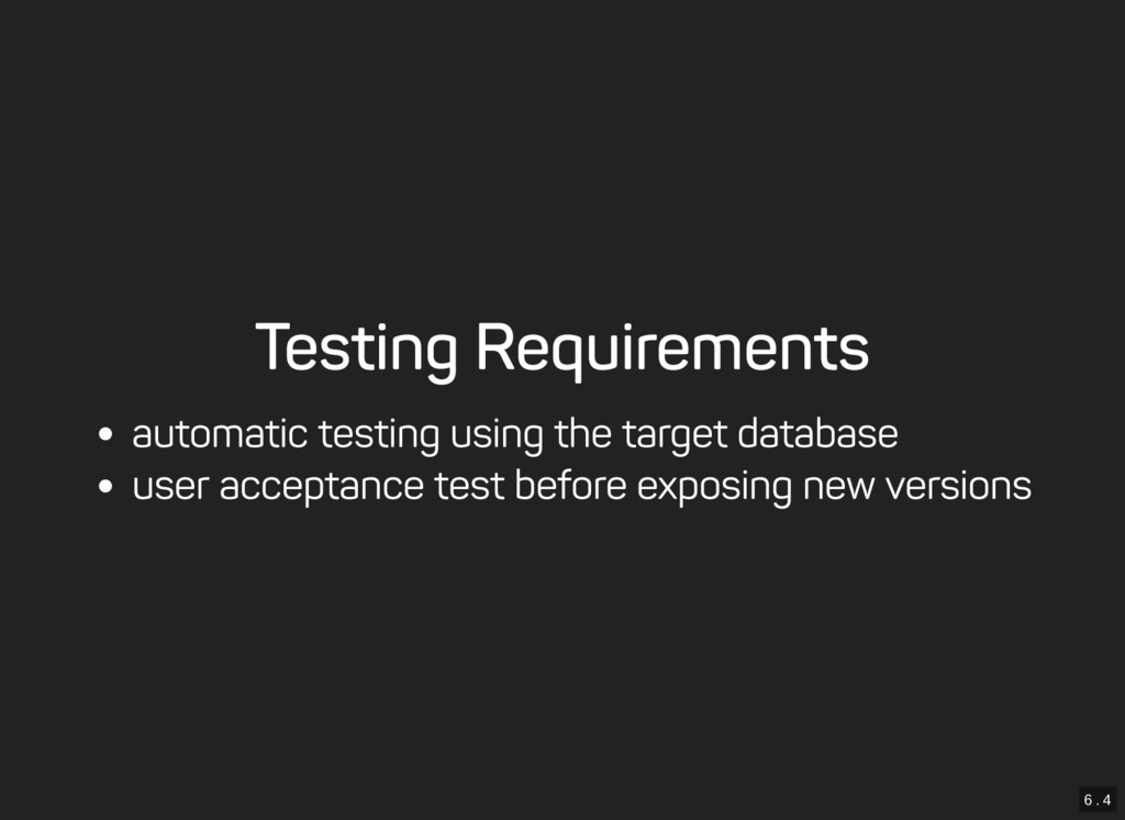 6 . 4 Testing Requirements automatic testing us...