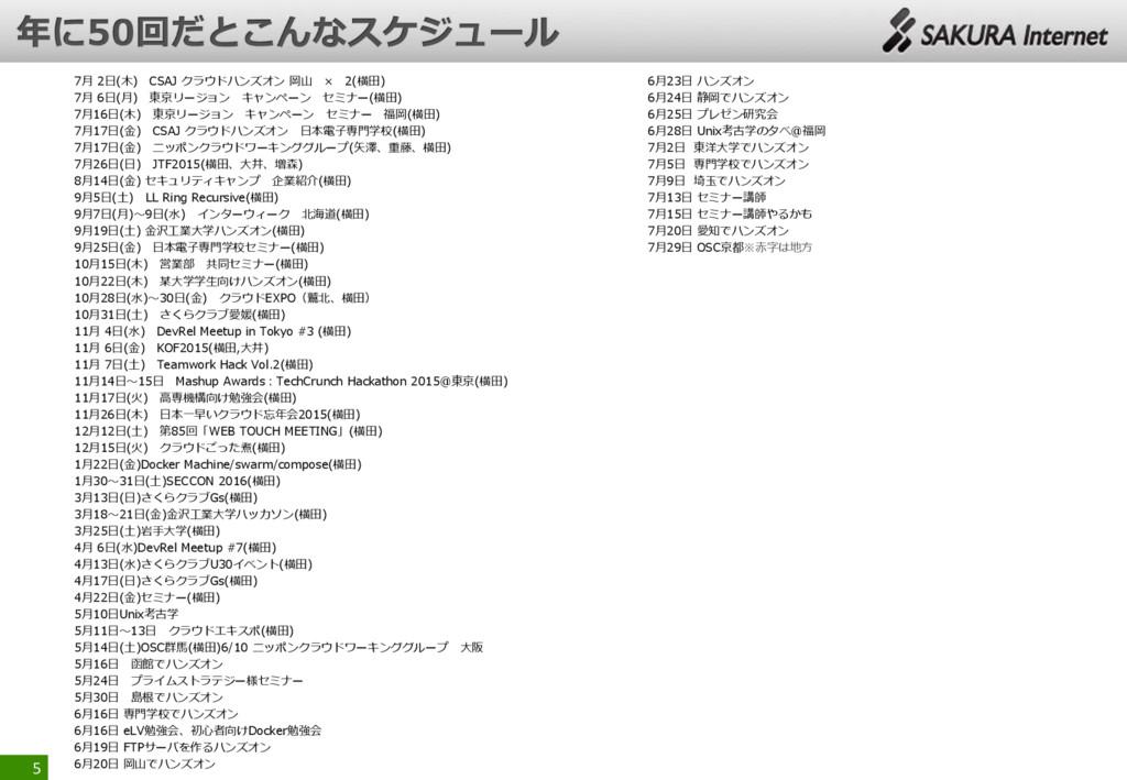 7月 2日(木) CSAJ クラウドハンズオン 岡山 × 2(横田) 7月 6日(月) 東京リ...