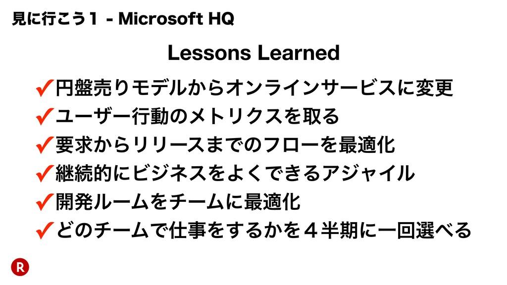 Lessons Learned ✓ԁ൫ചΓϞσϧ͔ΒΦϯϥΠϯαʔϏεʹมߋ ✓Ϣʔβʔߦಈͷ...