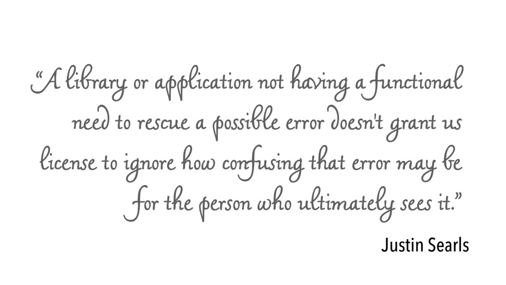 """""""A library or application not having a function..."""