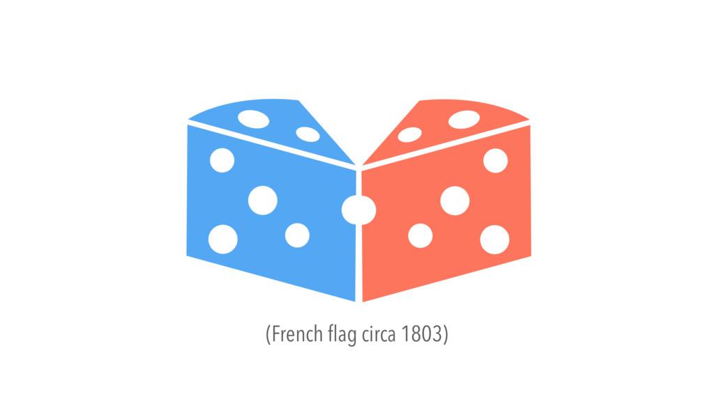 (French flag circa 1803)