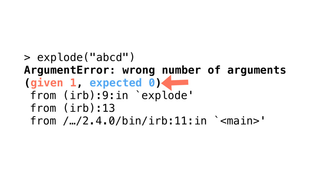 """> explode(""""abcd"""") ArgumentError: wrong number o..."""