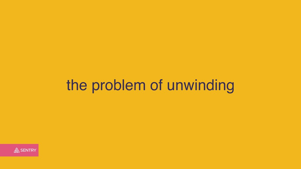 the problem of unwinding