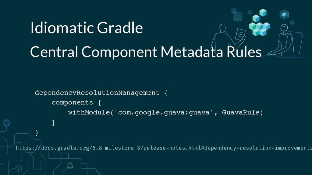 Idiomatic Gradle dependencyResolutionManagement...