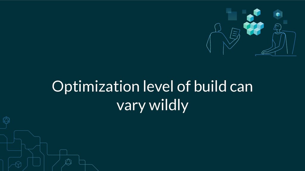 Optimization level of build can vary wildly