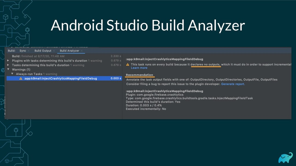 Android Studio Build Analyzer