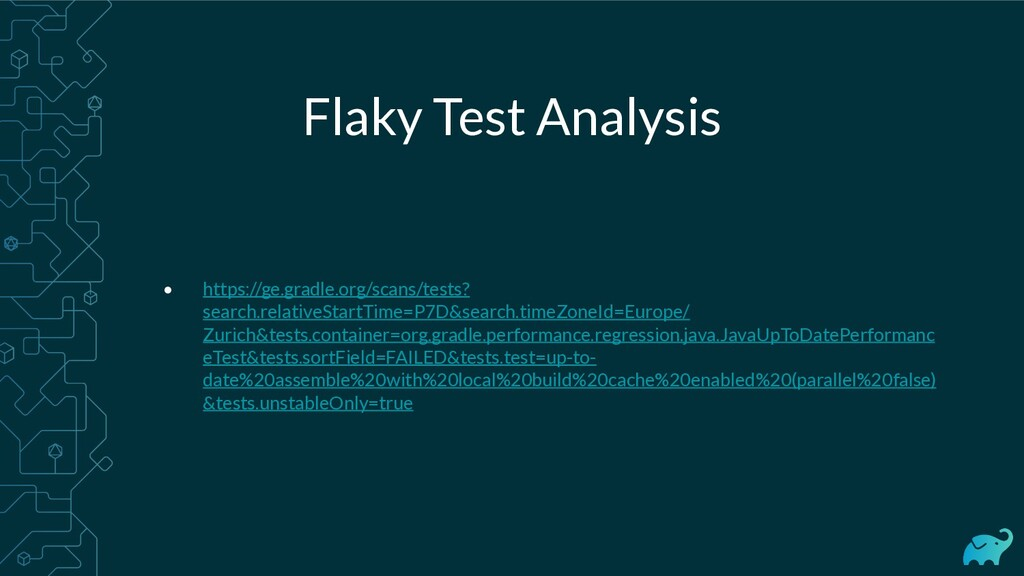 Flaky Test Analysis • https://ge.gradle.org/sca...