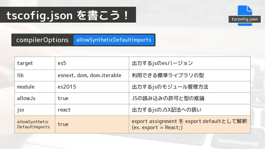 tsconfig.json compilerOptions allowSyntheticDef...
